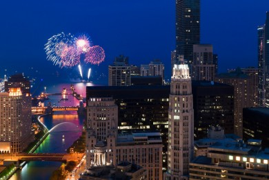 July 4th Fireworks over Chicago