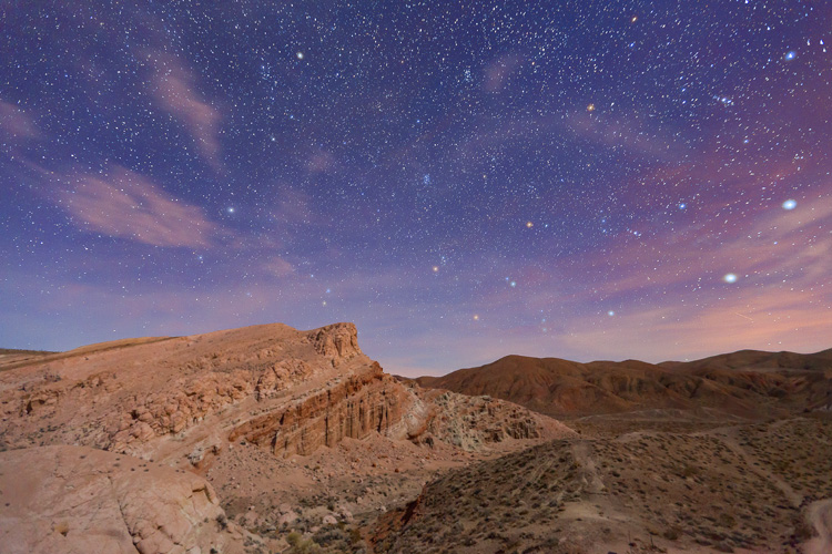 Red Rock Canyon stars