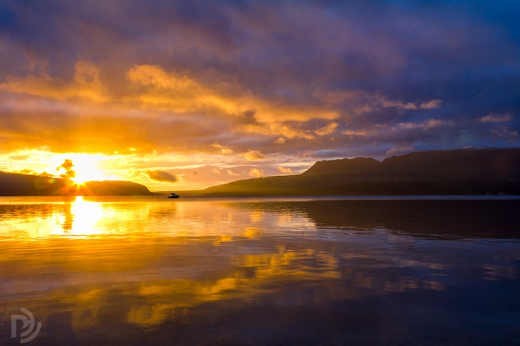 Lake Tarawera sunrise