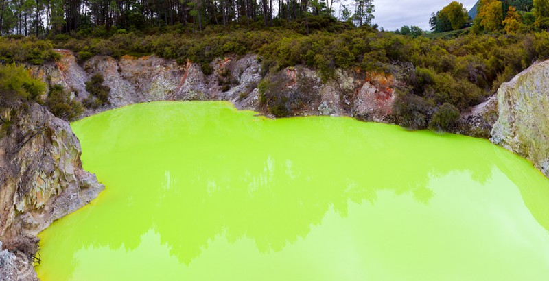 Waiotapu green pool pano